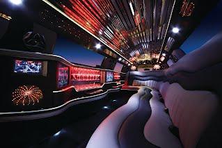 Inside the Chrysler limo