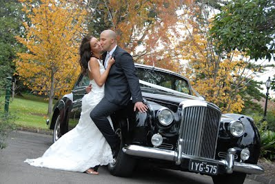 Bentley Silver Cloud and Bridal Couple