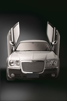 The 2 Tone Chrysler with Gull wing doors